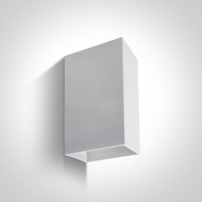 67398A/W/W biały kinkiet LED 3000K 2x3W IP54 nieściemnialny zasilacz LED w zestawie