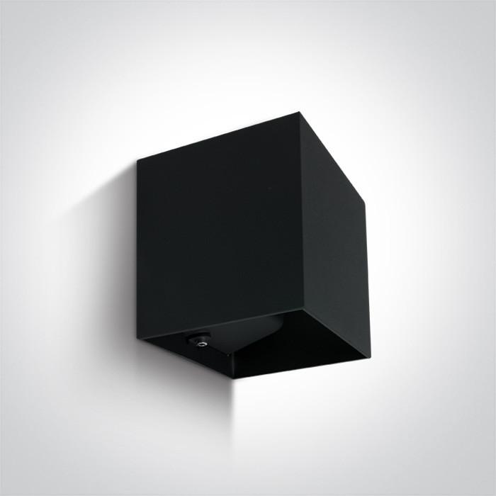 67398C/B/W czarny kinkiet LED 3000K 2x3W IP54 nieściemnialny zasilacz LED w zestawie