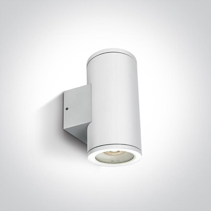 67400B/W biały zewnętrzny cylinder ścienny 2x35W MR16 GU10
