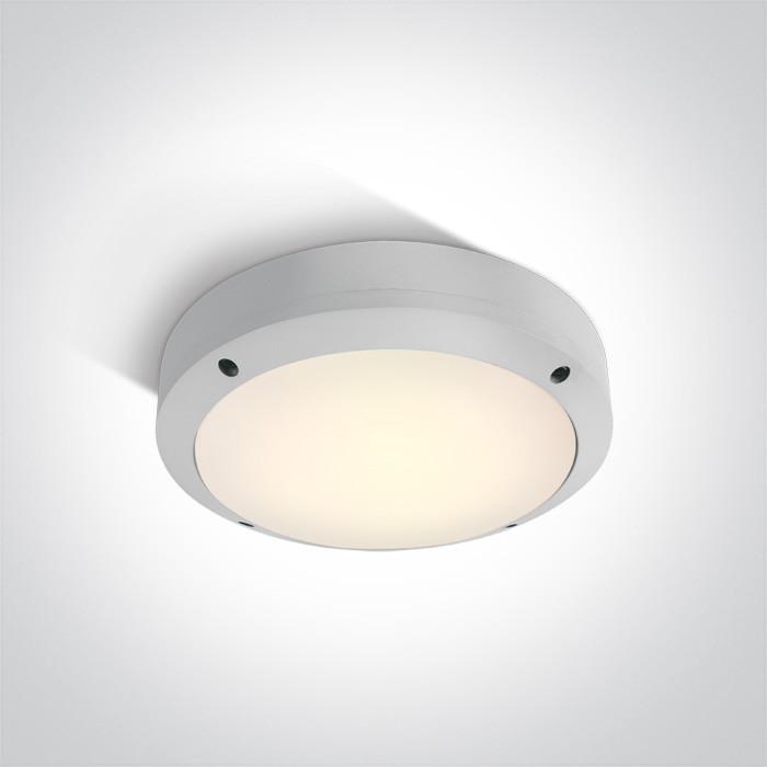 67442/W/W biały klasyczny zewnętrzny kinkiet LED 3000K 10W  IP54, AC LED
