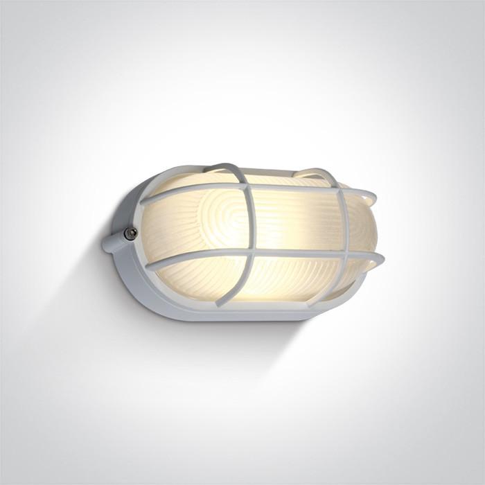 67444C/W/W biały klasyczny zewnętrzny kinkiet LED 3000K 10W  IP54, AC LED