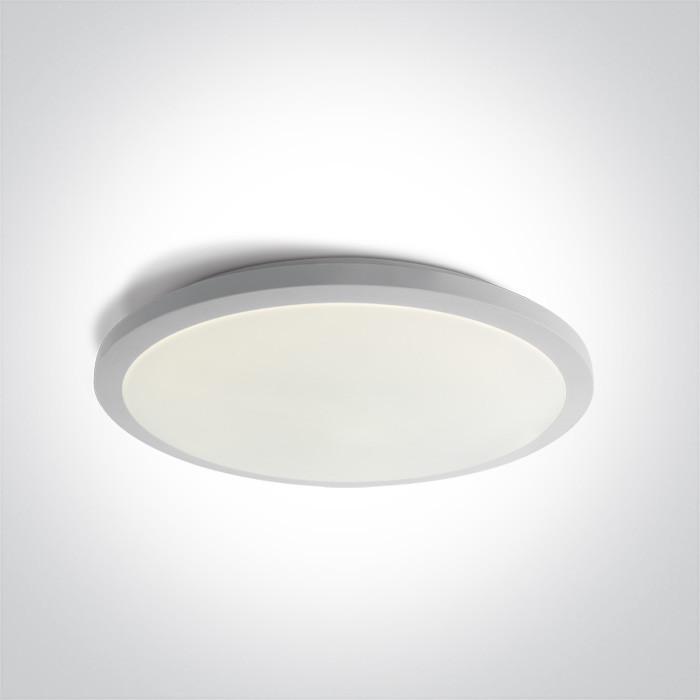 67448A/W/W biały plafon LED 3000K 36W  nieściemnialny zasilacz LED w zestawie