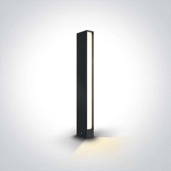 67460A/AN/W lampa ogrodowa w kolorze antracyt LED 3000K 8W IP54 nieściemnialny zasilacz LED w zestawie