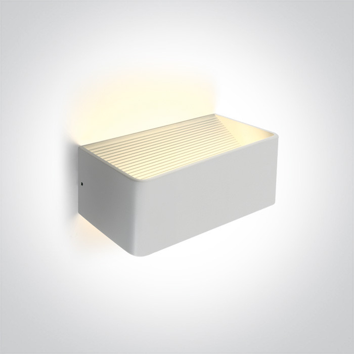 67466B/W/W biała lampa ścienna LED 3000K 6W  zasilacz 300mA w zestawie