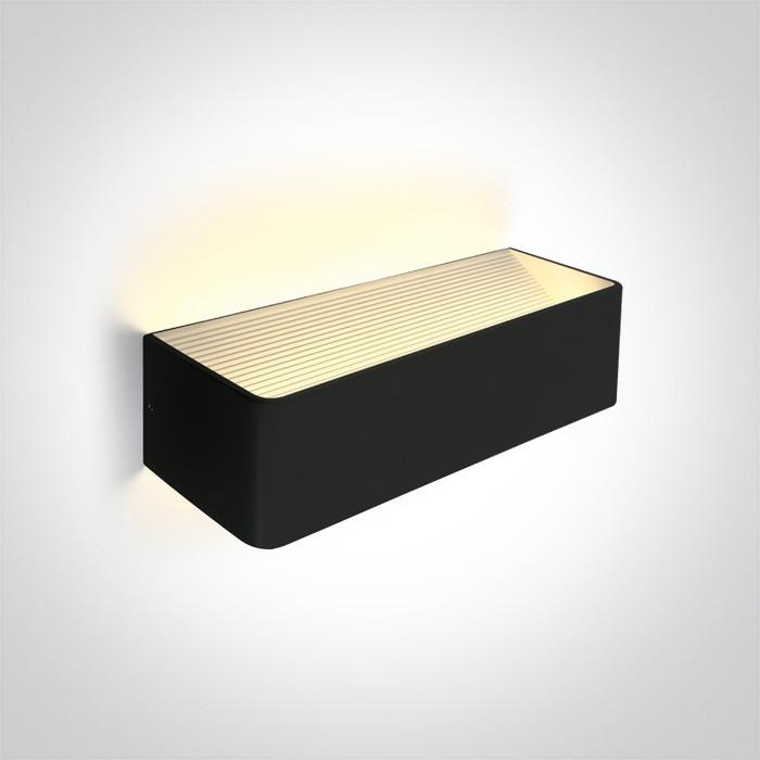 67466C/B/W czarna lampa ścienna LED 3000K 12W  zasilacz 300mA w zestawie