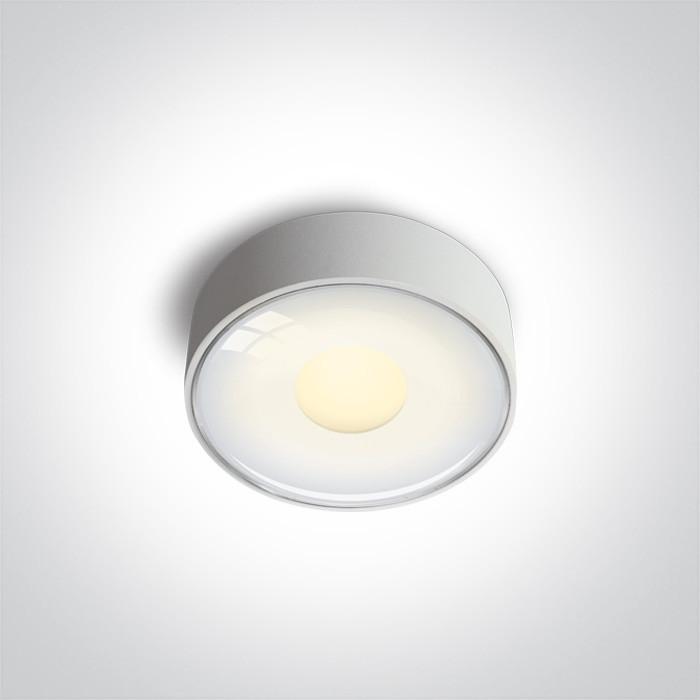 67484/W/W zewnętrzna biała oprawa sufitowa AC SMD LED 3000K IP65 6W