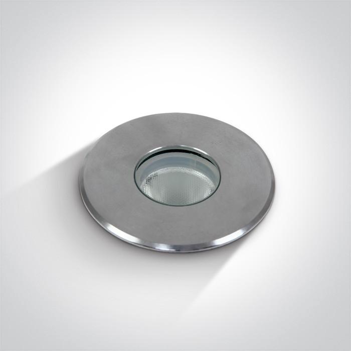69028/W wpust ze stali nierdzewnej 316 COB LED 3000K 2W IP67 nieściemnialny zasilacz LED w zestawie