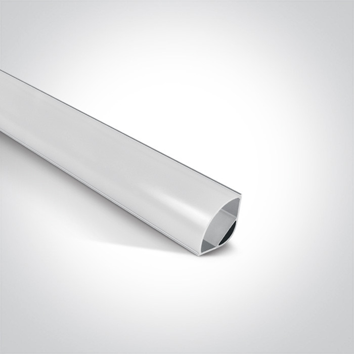 7908/AL profil aluminiowy Slim Surface 2m z mlecznym kloszem PC w komplecie 2 zaślepki i łącznik 180Β°, nadaje się do 7820, 7821