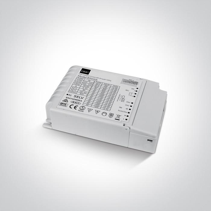 89050L zasilacz LED 1-10V dali/ Push to dimm 50W regulowana moc za pomocą przełączników DIP