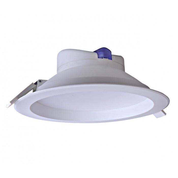 Mistic Lighting łazienkowa oprawa sufitowa LED Ecoeye 25W 2230lm 3000K wpuszczana biały mat IP44 MSTC-05411311